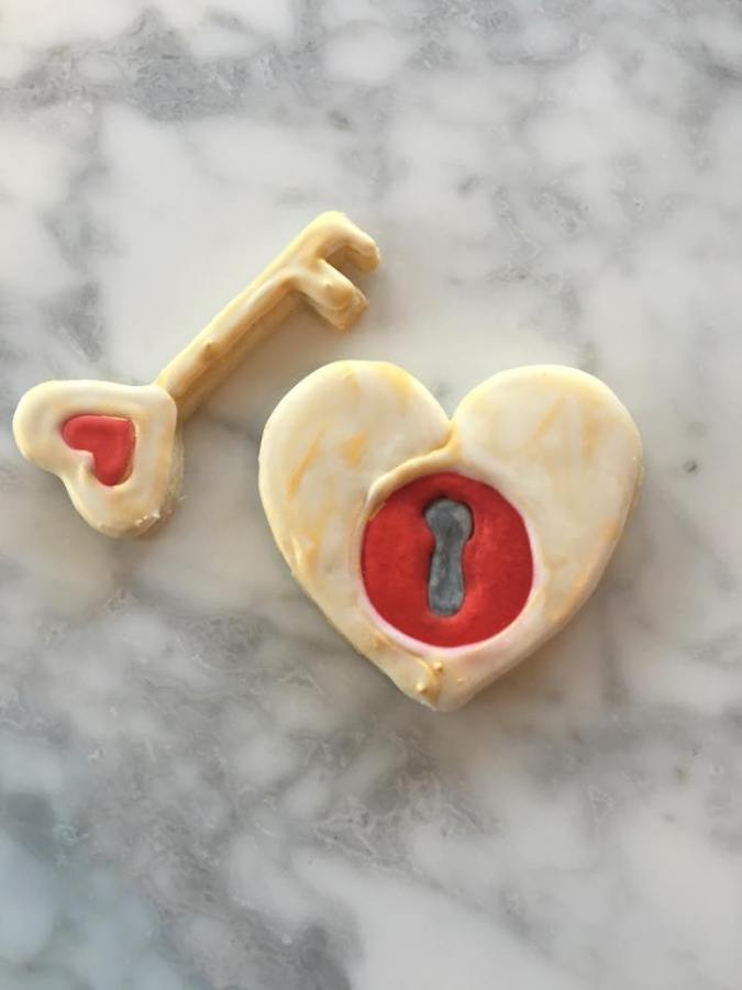 Valentine lock and key
